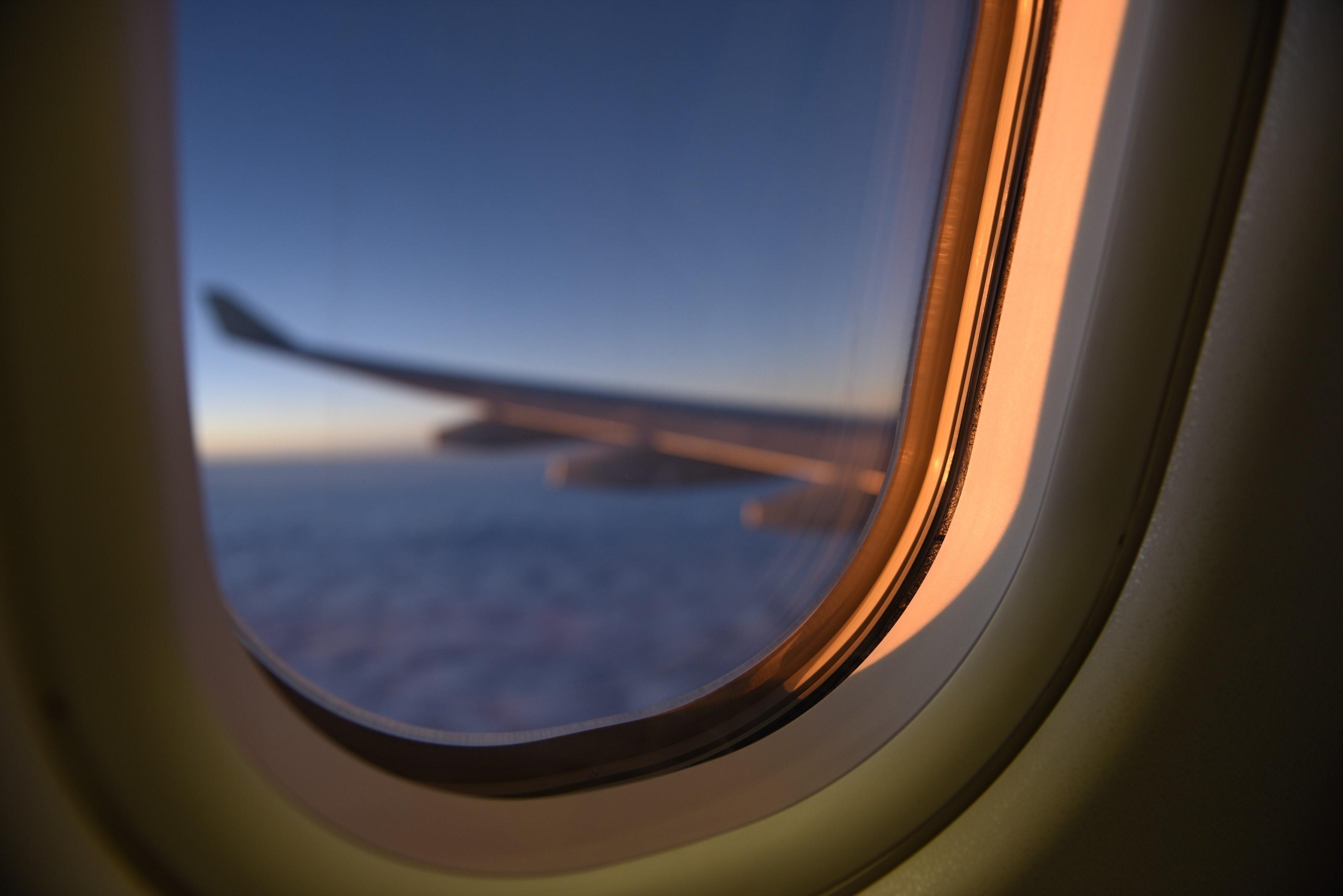 Image of airplane window