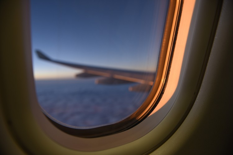 Image of airplane window