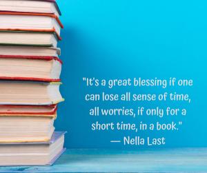 Nella Last Quotation about books.